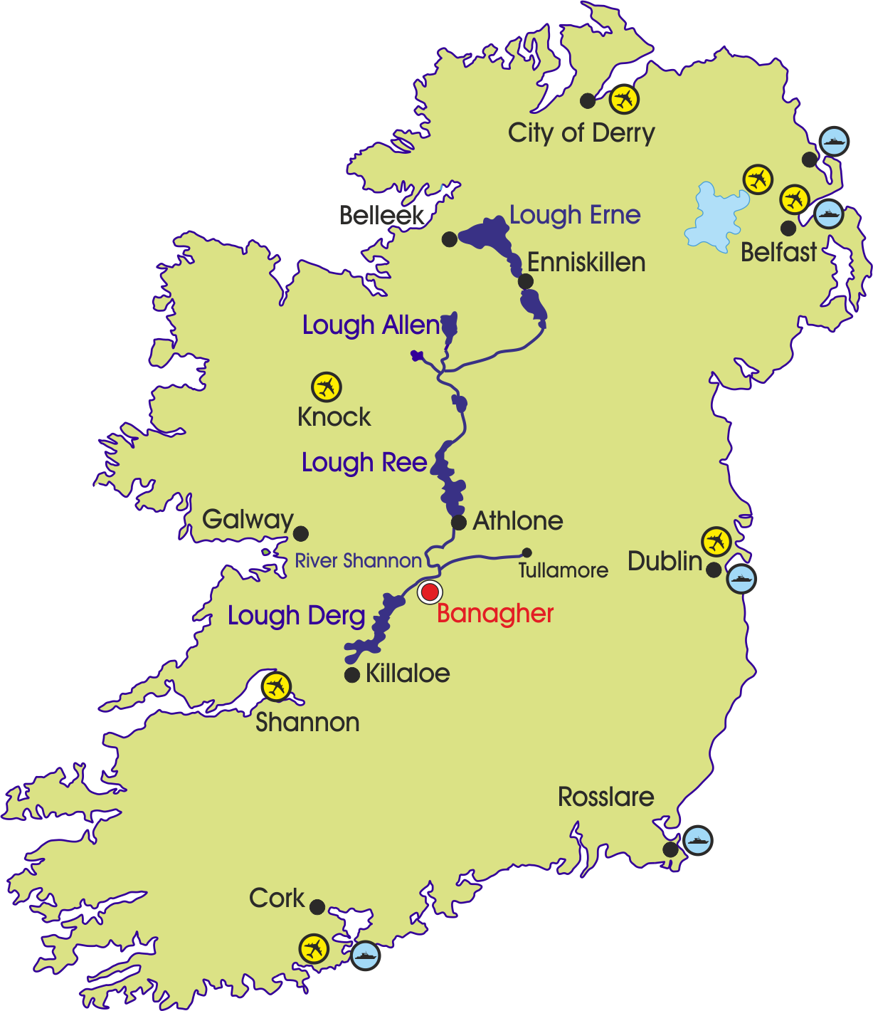 Banagher Map